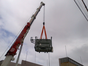 mobile crane hire lift